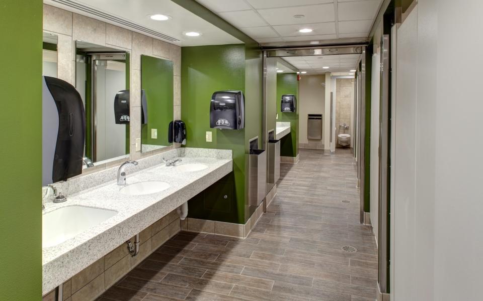 Purdue University Harrison Residence Hall Restroom